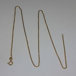 18 K Solid Gold Box Chain
